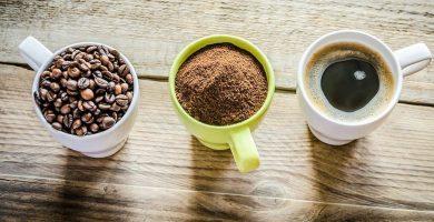 Taza de café para como preparar el mejor café, granos de café, café organico molido, cafe pronto