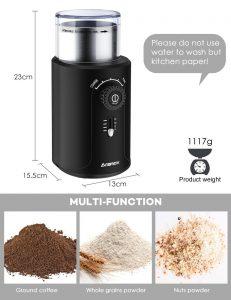 molinos electricos, molinillo amazon, molinillo cafe y mas funciones, muy barato y buena calidad, molienda, maquina para moler cafe, moliendo cafe